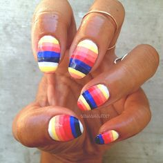 nina nailed it. nails. surfing. roller derby.