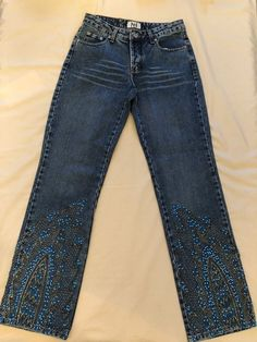 37c2b83988e Karina Negri-Stylish High Quality Brazilian ButtonFly Embellished Jeans-Sz  42(6)