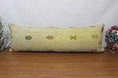 needle emroidered kilim pillow cover 16x48 lumbar kilim pillow #pillow #etsy #kilimpillow #handmade #patchwork #decorative #floorpillow #bedpillow