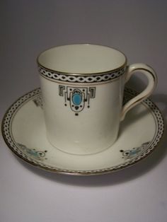Art Deco English bone china cup & saucer by natalie-w