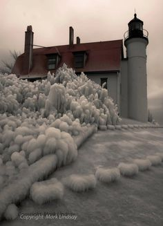 *Point Betsie Lighthouse in Winter - Frankfort, Michigan