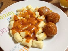 Gnocchi and meatballs - all made by me :)
