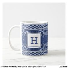 Sweater Weather | Monogram Holiday Coffee Mug
