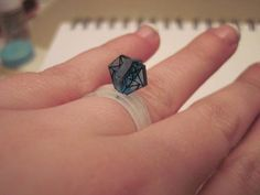 Shrinky Dink 3D 'Diamond' Ring [UPDATE: TUTORIAL ADDED on pg 1] - JEWELRY AND TRINKETS