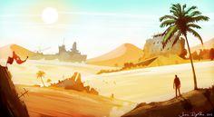Desert Wasteland - Environment Concept Art by ~BlazeXXL on deviantART