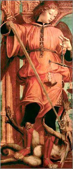 O arcanjo Michael por Carlo Crivelli, ca. Catholic Art, Religious Art, Medieval Art, Renaissance Art, Angel Hierarchy, Angel Warrior, I Believe In Angels, Saint Michel, Angels Among Us