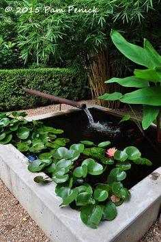 Water feature in garden - DIY Garten Landschaftsbau Large Water Features, Water Features In The Garden, Pond Design, Landscape Design, Garden Design, Flower Landscape, Landscaping Supplies, Backyard Landscaping, Backyard Waterfalls