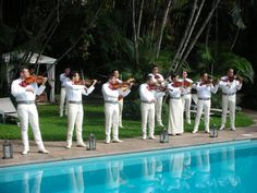 Mariachias played during cocktails at Villa Verano in Puerto Vallarta Mexico