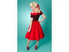 Carrie Swing Dress - Cherry