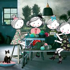 It's so much better when we craft together #love #crafting #together #suzannevega #luka #knitting #crochet #wool #woolandthegang #scheepjes #friends #gucci #marni #bellafreud #15seconds #animation