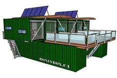 Container House - HoneyBox INC. shipping container architecture - Who Else Wants Simple Step-By-Step Plans To Design And Build A Container Home From Scratch? Container Design, Container Cafe, Cargo Container Homes, Building A Container Home, Storage Container Homes, Shipping Container Buildings, Shipping Container Home Designs, Shipping Container House Plans, Shipping Containers