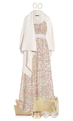 """Maxi Dress"" by ittie-kittie ❤ liked on Polyvore featuring Alexander McQueen, Uttam Boutique, Tory Burch, Bony Levy, Charlotte Russe, Prada, women's clothing, women's fashion, women and female"