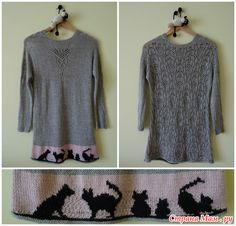 """Пуловер """"Кошачьи посиделки"""" или как я разочаровалась в ниточке..."""