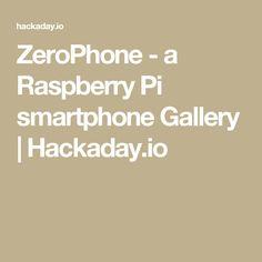 ZeroPhone - a Raspberry Pi smartphone Gallery | Hackaday.io
