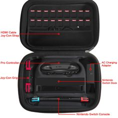 Nintendo Switch Game Traveler Deluxe Storage Case,iVoler Portable Nintendo Switch Carrying-All Protective Hard Messenger Bag Soft Lining 18 Games for Switch Console Pro Controller &Accessories Black: Video Games Nintendo Switch System, Nintendo Switch Games, Fifa Games, Nintendo Switch Accessories, Amazon Video, Protective Cases, Carry On, Messenger Bag, Console