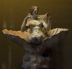 Aphrodite Anadyomene - Terracotta, Louvre Paris