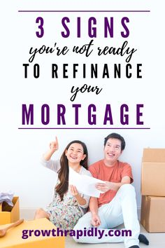 With low mortgage rates on the rise, it might make sense to refinance. But the question is are you READY?? Here are 3 signs you might not be. CLICK to find out. #refinancing #refinancingmortgagetips #refinancemortgage #refinance #refinancehomeloan #growthrapidly. Mortgage Quotes, Mortgage Tips, Good Credit Score, Improve Your Credit Score, Current Mortgage Rates, Personal And Professional Development, Refinance Mortgage, Home Buying Tips, Finance Tips
