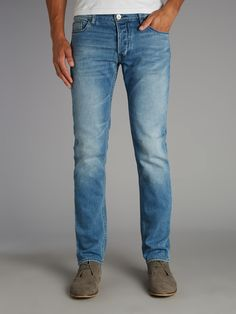 Armani Jeans Light wash slim fit jean #houseoffraser http://ow.ly/oAMQv