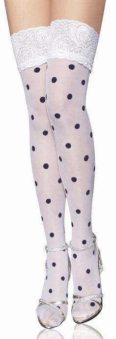 White Polka Dot Fashion Stocking Sexy Stocking Stocking