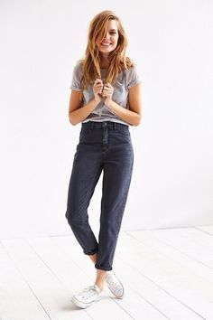 BDG The Mom Jean - Black #urbanoutfitters. MOM JEANS ARE BACK!!!!