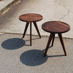 4-1 Tall Side Table Walnut by Structured Green