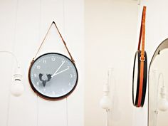 diy clock with belts