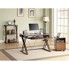 Staples Small Office Home Office Furniture Collections Staples Cozy Office, Guest Room Office, Small Office, Office Desk, 3 Shelf Bookcase, Shelves, Small Guest Rooms, Home Office Furniture, Line Design