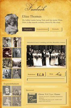 How I imagined Facebook would look like in Victorian Era