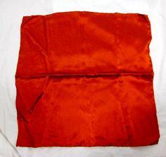 CARROT & GIBBS Dark Orange Suit Silk Pocket Square Handkerchief NWT $35 #CarrotGibbs #Plain