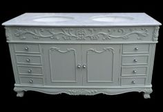 French Double Bowl Vanity Unit
