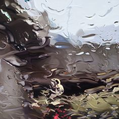gregory thielker paintings...amazing capture of the effect of rain on a windshield