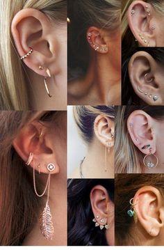 77 Ear piercing ideas for Women. Cute and Beautiful Ear piercing Ideas. #earrings #earpiercings #earpiercingsideas #earpiercingscute #earringsforwomen