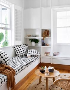 Durham House - The Design Files Durham, Horizontal Murphy Bed, Interior Styling, Interior Design, Small Space Bathroom, Small Spaces, White Cottage, The Design Files, Timber Flooring