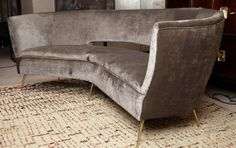1950's Italian Curved Sofa in the style of Ico Parisi