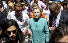 At the NYC Pride Parade, both Governor Cuomo & Hillary's medical handler both look concerned.  And Hillary looks like hell.