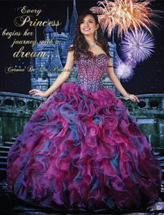 Disney Royal Ball Quinceanera Dress La Princess De La Corona Style 41021