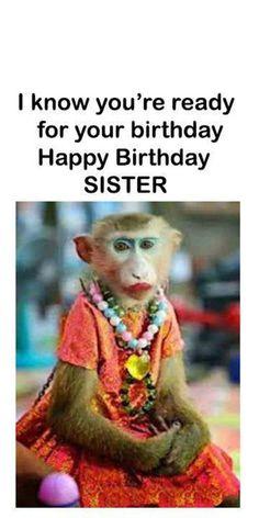 Sister Birthday Quotes Funny, Happy Birthday Little Sister, Happy Birthday Wishes Sister, Funny Happy Birthday Messages, Funny Happy Birthday Images, Birthday Jokes, Happy Birthday Quotes For Friends, Best Quotes For Sister, Birthday Ideas For Sister