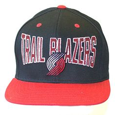 NBA Portland Trail Blazers Retro Snapback Flatbill Hat Cap >>> See this great product.