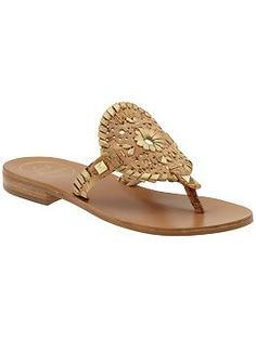 da817858157bd7 The Jack Rogers Georgica leather sandal features a circular vamp with  signature JR whipstitch detailing. - Fit Note  True to size - Fabric  Content  Leather