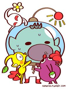 Captain Olimar and Pikmin