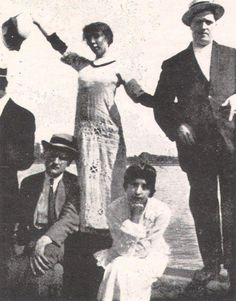 APOLLINAIRE,  (M.D. MAGAZINE, MARCH 1967) WITH MARIE LAURENCIN, NORMANDY, 1913
