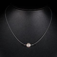Halskette Zuri Colliers Colliers Perlen Swarovski, Silver, Jewelry, Fashion, Neck Chain, Beads, Schmuck, Moda, Jewlery