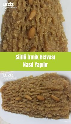 How to make milk semolina halva – my delicious food - Einfach Milk And More, Turkish Recipes, Homemade Beauty Products, Fun Desserts, Deserts, Food And Drink, Yummy Food, Beef, Meals