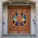 Spectacular custom wood door from Simpson