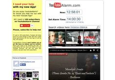 YouTubeAlarm es una herramienta en línea gratuita que nos permite utilizar cualquier vídeo de YouTube como una señal de alarma online o despertador.