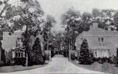 The gatehouses to Oak Point, Mona's Bayville estate. Suffolk County, Make Way, Historic Houses, Tear Down, Wishing Well, Town And Country, Gold Coast, Creatures, Trees