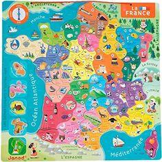 Janod - J05486 - Puzzle - France Magnétique 23€
