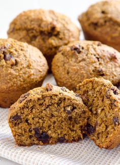 Healthy Oat Bran Muffins Recipe made with applesauce, whole wheat flour, oat bran, raisins and no sugar.   ifoodreal.com
