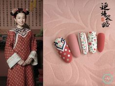 Yanxi Palace inspired manicure that will make you fall in love with ancient Chinese fashion! New Year's Nails, Hair And Nails, New Years Nail Art, Vintage Nails, Classic Nails, Nail Photos, Manicure Y Pedicure, Japanese Nails, Instagram Nails