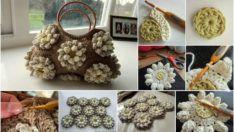 Çiçek Motifli Çanta Yapımı  Kendi Çantanı Kendin Tasarla